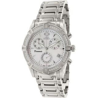 Swiss Precimax Women's Desire Elite Diamond SP12080 Silver Ceramic Dress Watch