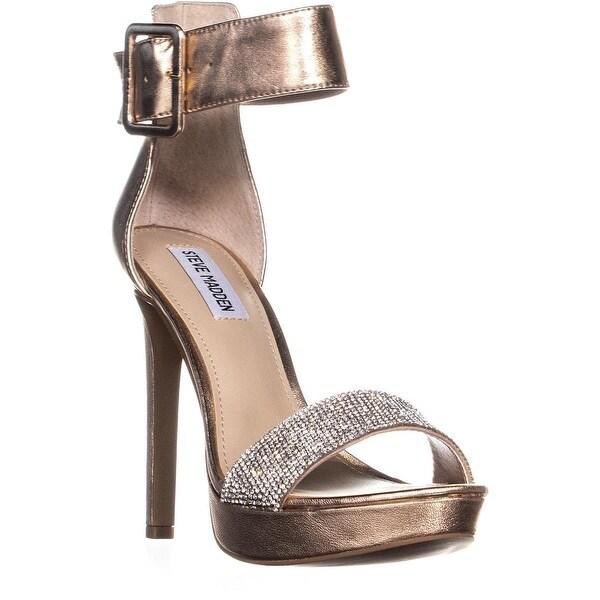 4a6871cb40142 Shop Steve Madden Circuit Platform Ankle Strap Sandals, Rose Gold ...