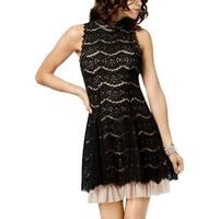Trixxi Womens Juniors Mini Dress Lace Halter