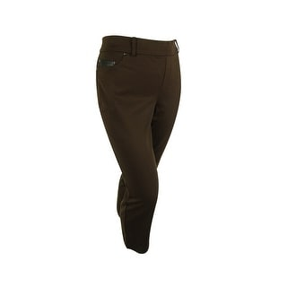 Charter Club Women's Classic Fit Slim Leg Ponte Pants