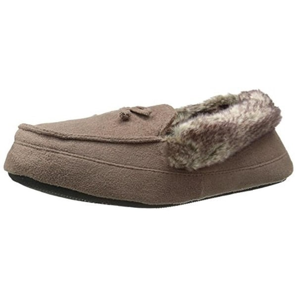 Isotoner Womens Moccasin Slippers Microsuede Memory Foam