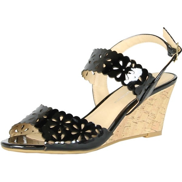 Cl By Chinese Laundry Womens Tori Wedge Sandals - Black