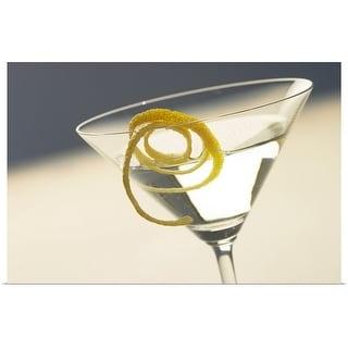 """Martini and glass"" Poster Print"