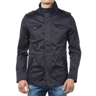 Diesel Mens J-Nirav Standing Collar Jacket Large L Navy Blue, Retail $295