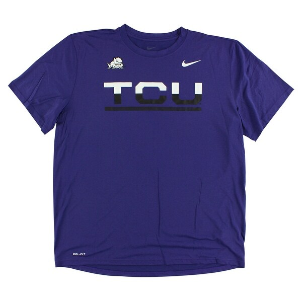 718870efe198 Shop Nike Mens TCU Legend Sideline T Shirt Purple - purple white black - XL  - Free Shipping On Orders Over  45 - Overstock - 22615755