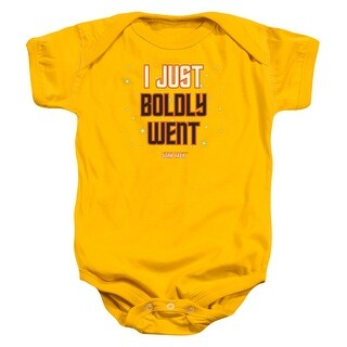 Star Trek I Just Boldly Went Unisex Baby Snapsuit Gold
