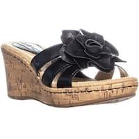B.O.C. Born Manona Wedge Sandals, Black