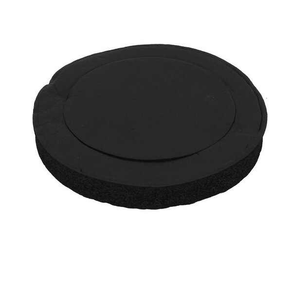 "Unique Bargains Self-Adhesive 7.5"" 25mm MDF Speaker Spacer Loudspeaker Accessory Black"