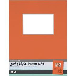 "Orange - Dry-Erase 11""X14"" Photo Mat Holds 4""X6"" Photo"