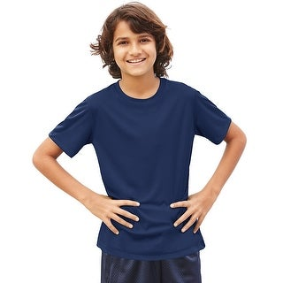 Hanes Cool DRI® Youth T-Shirt - Size - M - Color - Navy