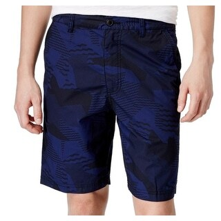American Rag NEW Blue Medieval Mens Size 31 Abstract Chinos Shorts
