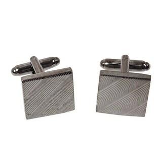 Geoffrey Beene Men's Square Diagonal Cufflinks, Gun Metal - Gun Metal - os