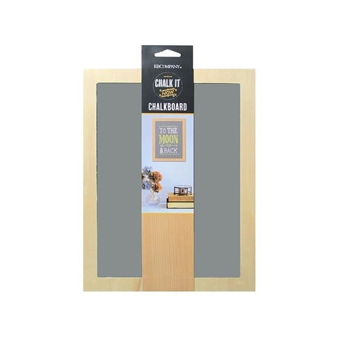 K&Co Chalk It Now Chalkboard Wood Frame Grey