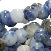 Blue Sodalite 4mm Round Beads / 15.5 Inch Strand (Lapis Color)