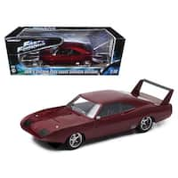 1969 Dom\'s Dodge Charger Daytona Custom Fast & Furious 6 Movie (2013) in Window Box 1/18 Diecast Model Car by Greenlight