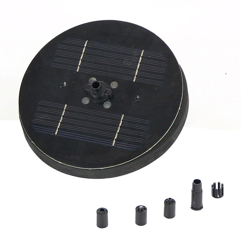 Sunnydaze Solar Pond or Birdbath Pump, 7 Inch Diameter - Black - Thumbnail 0