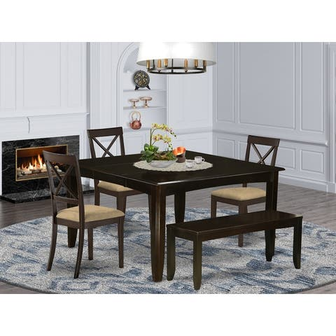 Cappuccino Wood Expandable Dining Set