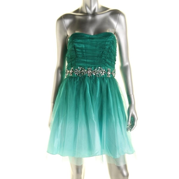 Shop B Darlin Womens Juniors Semi Formal Dress Jeweled