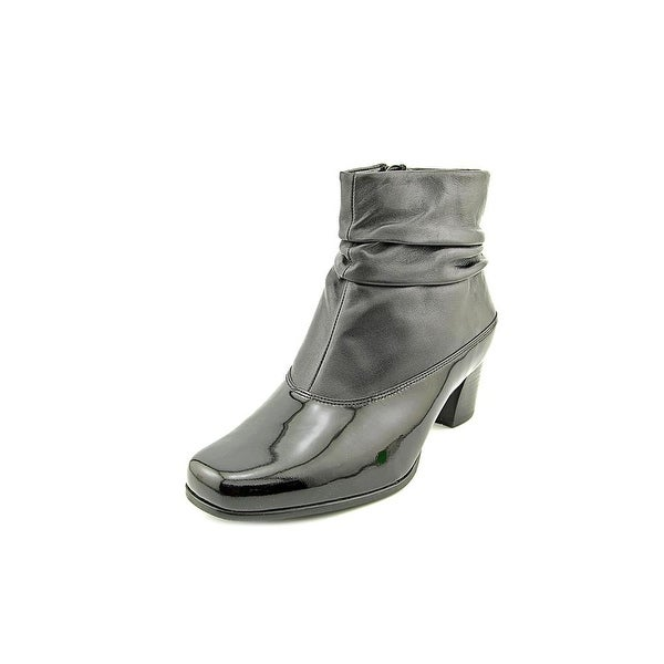 David Tate Vera Women Square Toe Leather Ankle Boot