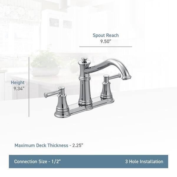 Moen 7250 Belfield High-Arc Double Handle Kitchen Faucet