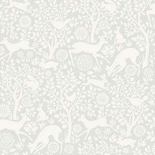 Brewster HAS01232 Anahi Light Grey Forest Fauna Wallpaper