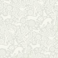 Brewster HAS01232 Anahi Light Grey Forest Fauna Wallpaper - N/A