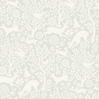 Brewster HAS01232 Anahi Light Grey Forest Fauna Wallpaper