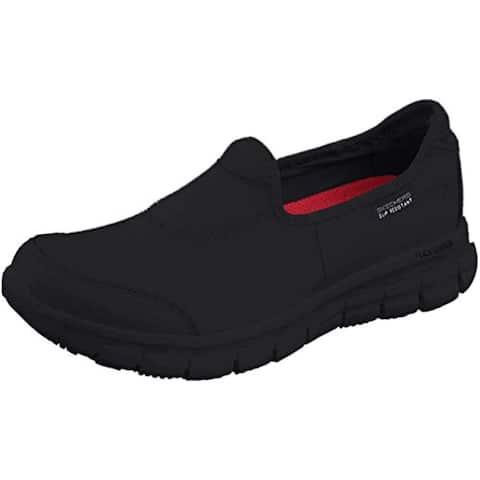 Skechers for Work Women's Sure Track Slip Resistant Shoe, Black