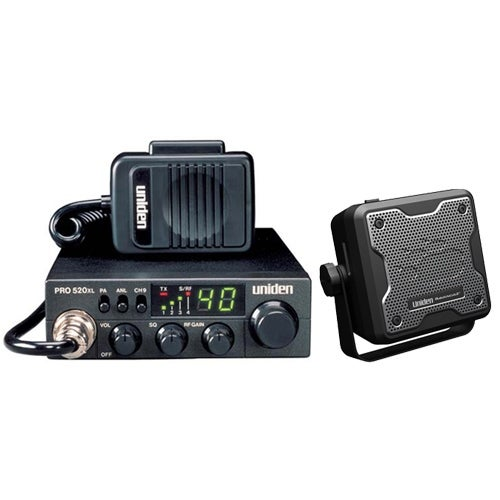 Uniden PRO520XL Stationary Base CB radio w/ External Speaker & Power-Out Antenna