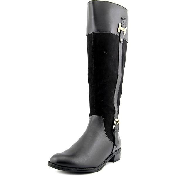 Karen Scott Deliee Wide Calf Women Round Toe Synthetic Black Knee High Boot