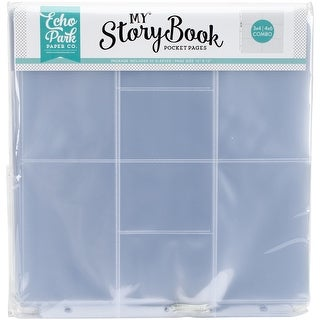 """My Story Book Album Pocket Pages 12""""X12"""" 50/Pkg-(2) 4""""X6"""" & (8) 4""""X3"""" Openings"""