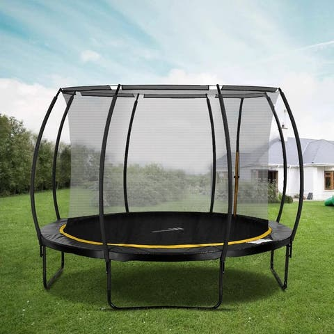 Zenova 10-foot Trampoline with Safety Enclosure Net and Spring Pad
