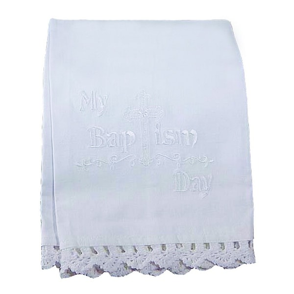 Little Things Mean A Lot New Girls Layette My Baptism Day Baby Bath Towel Set