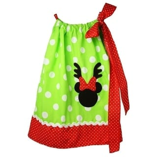 Little Girls Green White Polka Dot Minnie Mouse Pillow Case Dress 1-5Y (Option: 4)|https://ak1.ostkcdn.com/images/products/is/images/direct/4f7bf1e0c02d862e4f3bec99ddc669151772a5cc/Little-Girls-Green-White-Polka-Dot-Minnie-Mouse-Pillow-Case-Dress-1-5Y.jpg?impolicy=medium