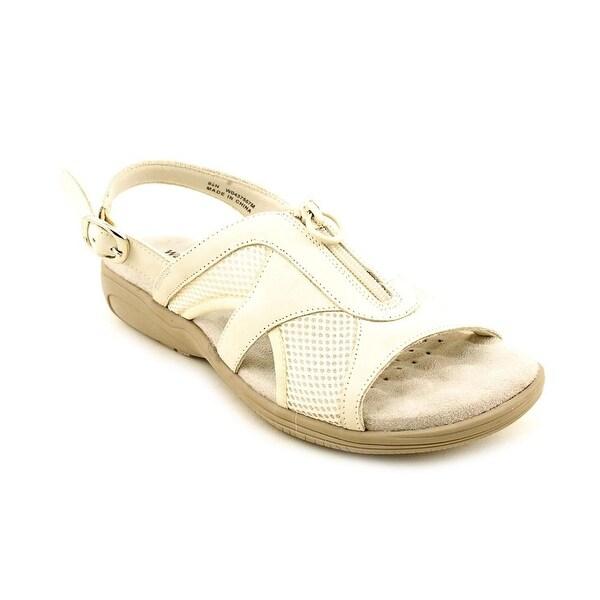 Walking Cradles Cherry Women W Open-Toe Leather White Sport Sandal