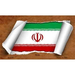 Smart Blonde M-9197 Iran Flag Scroll Novelty Metal Magnet