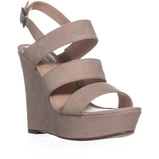 madden girl Blenda Wedge Ankle Strap Sandals, Blush - 5.5 us