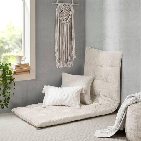 Intelligent Designs Arwen Poly Chenille Lounge Floor Pillow