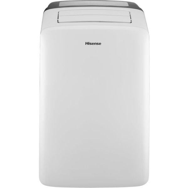 Hisense CAP-08CR1SEJS 8,000 BTU Portable Air Conditioner with I-Feel Temperature Sensing Remote Cont - White