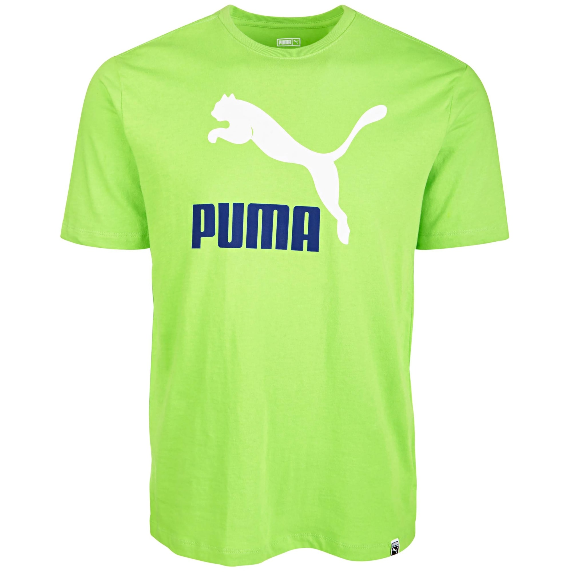 green and white puma shirt