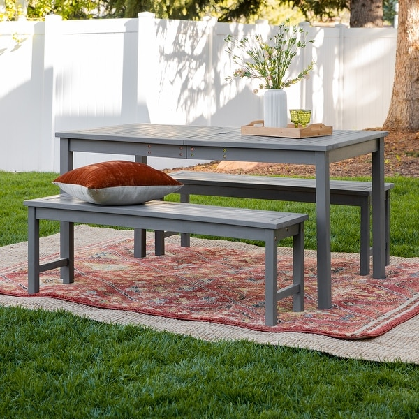 Surfside 3-piece Acacia Outdoor Dining Set by Havenside Home. Opens flyout.