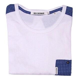 Ben Sherman Short Sleeve Crew Neck Pocket Tee Men Regular Basic T-Shirt
