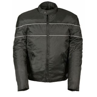 Mens Textile Scooter Style Jacket Reflective Stripes