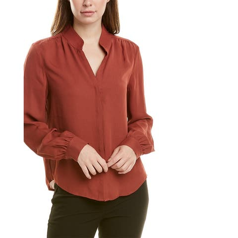 Donna Karan Shirred Top