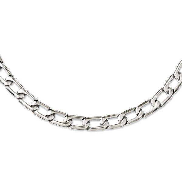 Chisel Stainless Steel Polished Squares Necklace (11 mm) - 24 in
