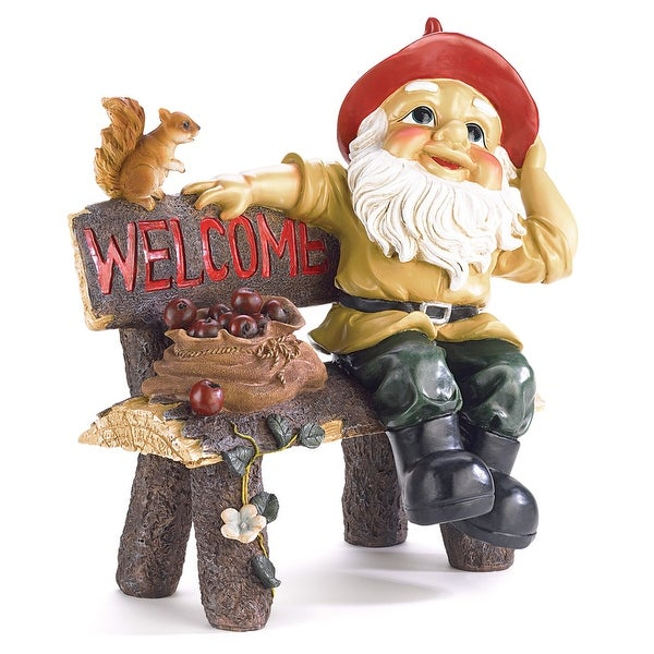 Garden Gnome Welcome Statue