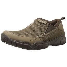 Crocs Men's Swiftwater Mesh Moc Slip-On Loafer - Walnut/Espresso