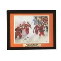 Deshaun Watson Autographed Clemson Signed 11x14 Football Framed Photo PSA DNA COA