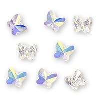 Swarovski Crystal, 5754 Butterfly Beads 6mm, 8 Pieces, Crystal AB