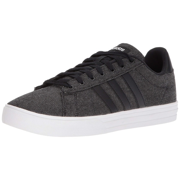 half off efd4a 4e638 Shop Adidas Men s Daily 2.0 Sneaker, Black White, 11 M Us - Free Shipping  Today - Overstock - 27121197